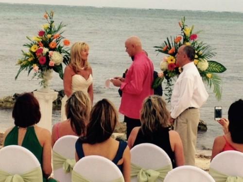Shamela and Tim Wedding: Wedding at Cayman Castle