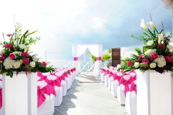 Wedding set Up in Pink