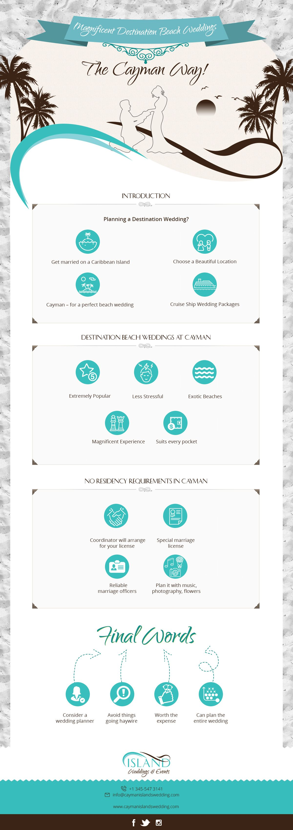 Infographic: Magnificent Destination Beach Weddings – The Cayman Way! - 1